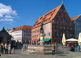 Alstadt von Augsburg in Bayern