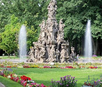 Der Erlangener Brunnen in Mittelfranken