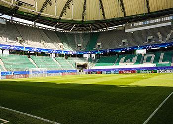 Ein Fussballstadion in Wolfsburg