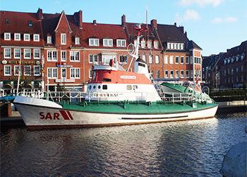 Emdener Hafen in Ostfriesland