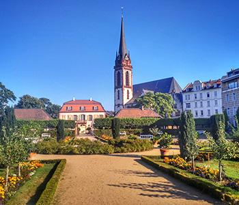 Kirche in Darmstadt zu einer Hochzeit