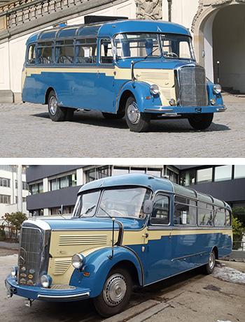 Bus von Mercedes Benz