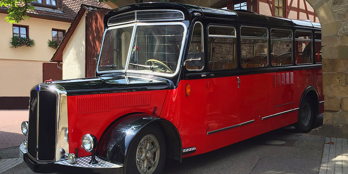 Freudenstadts Oldtimer Bus in Baden-Württemberg