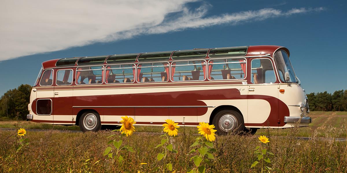 Bus Oldtimer bei Hamburger