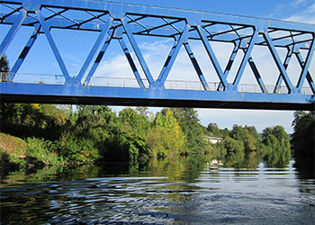 Eine Brücke im Saarland