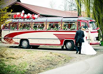 Oldtimer bus Hochzeit