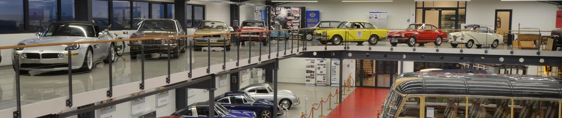 Oldtimerbus Garage und Fahrzeughalle