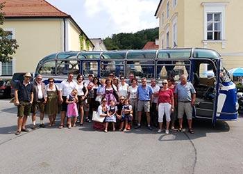 Ausflug im Bus