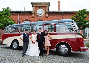Innenraum Bus Hochzeit